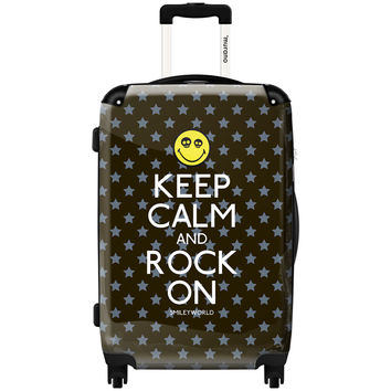 Murano by iKase Keep Calm and Rock On 24-inch Hardside Spinner Upright Suitcase