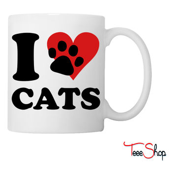 I Love my Cats Coffee & Tea Mug