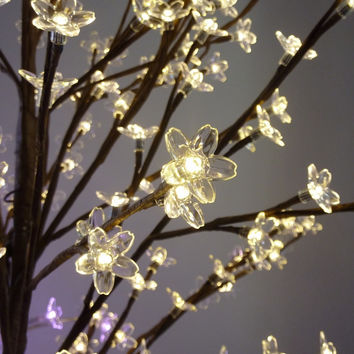 LED Cherry Blossom Wedding Tree -- Warm White Lights -- 9 Feet Tall