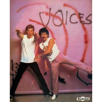 Hall And Oates poster Metal Sign Wall Art 8in x 12in