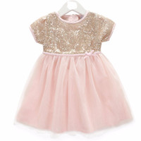 "Pre-order: The ""Emma"" Pink and Gold Sequin Infant Toddler Dress"