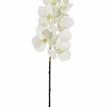 """Real Touch Artificial Vanda Orchid Spray in White39"""" Tall"""