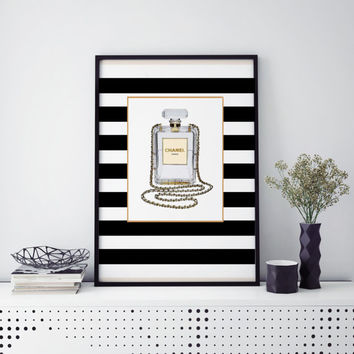CHANEL ILLUSTRATION Coco Chanel Perfume Print Coco Mademoiselle Fashion Art French Decor Fashion Illustration Chanel Print Perfume