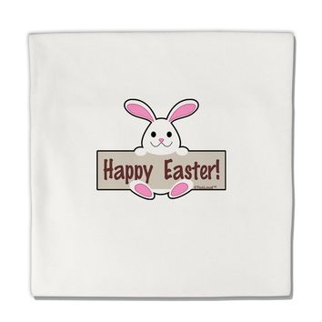 """Cute Bunny - Happy Easter Micro Fleece 14""""x14"""" Pillow Sham by TooLoud"""