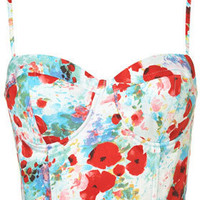 Poppy Printed Corset - Tops  - Apparel  - Topshop USA