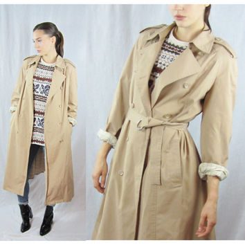 Shop Tan Trench Coat on Wanelo