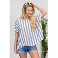 Beach Striped Loose Top
