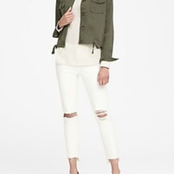 Cropped Utility Shirt Jacket | Banana Republic