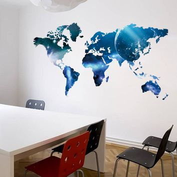 World Map Vinyl Wall Sticker Art Decal