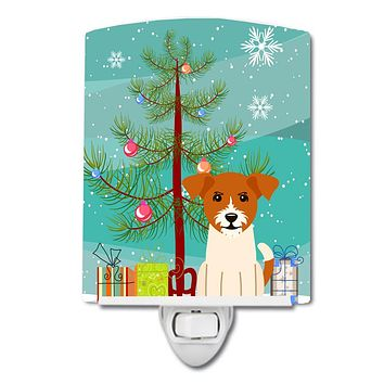 Merry Christmas Tree Jack Russell Terrier Ceramic Night Light BB4233CNL