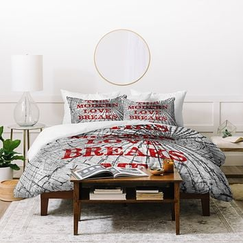 DarkIslandCity This Modern Love Breaks Me Duvet Cover