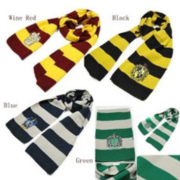 Gryffindor Slytherin Ravenclaw Hufflepuff House Harry Potter Scarf Shawl Wrap [8321370183]