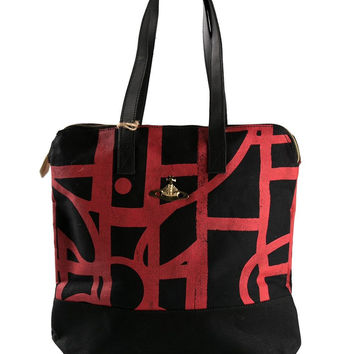 VIVIENNE WESTWOOD - ABSTRACT ORB SHOPPER TOTE