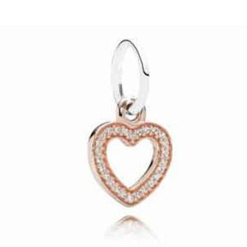 Authentic Pandora Jewelry - Symbol of Love Rose Gold Pendant - Fits Bracelet