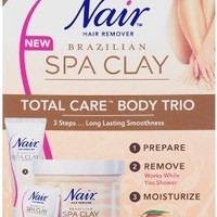 Nair Brazilian Spa Clay Total Care Body Trio, 12 Ounce
