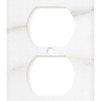 Italian Calacatta Gold Marble Single Duplex Switch Wall Plate / Switch Plate / Cover - Polished