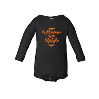 Halloween is a Lifestyle Baby bodysuit, Funny Halloween Shirt, Long Sleeve shirt