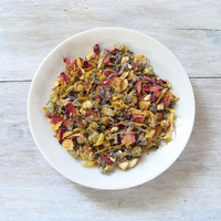 Lavender Lullaby Organic Herbal Tea, Blend of Chamomile, Rose & Lavender, Soothing Sleepy Loose Leaf Tea