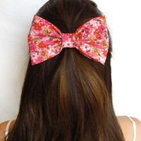 Flower Bow Clip Fabric Bow Floral Bow Flower hair Bow Tea Party Bow women princess bow for girls bows for teens fashion hair accessory bow