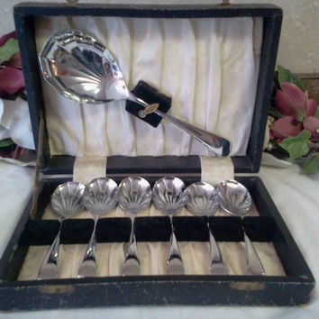 Vintage Stainless Steel Serving Spoons