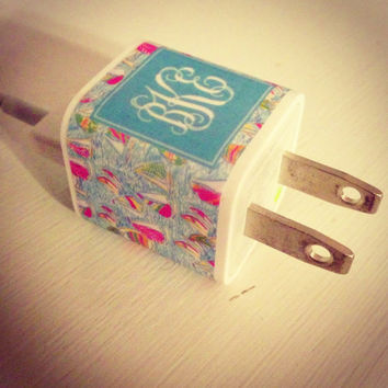 Monogrammed iPhone Charger Sticker  You Gotta by PreppyinPink3