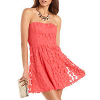 Polka Dot Mesh Tube Dress: Charlotte Russe