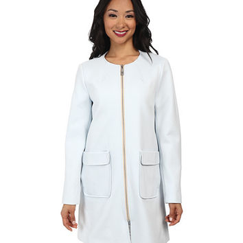 Vince Camuto Straight Coat Exposed Ponti