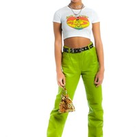 Vintage 90's Metro Green Genuine Leather Pants - M