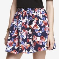 HIGH WAIST FLORAL FULL SKIRT