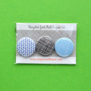 Recycled Junk Mail Magnet Set