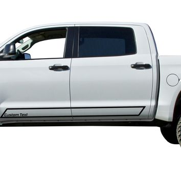 Custom Small Text Door stripe Kit Decals Vinyl Stickers Set: fit Toyota Tundra