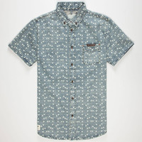 Lira Tri Zigs Mens Shirt Blue  In Sizes