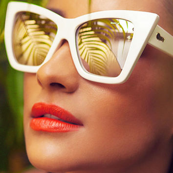 Quay Eyeware x Shay Mitchell Vesper Sunglasses in White