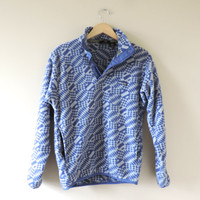 Vintage Adult Patagonia Geometric Pattern Fleece Pullover // Size SMALL