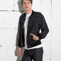 Grid Print Flex Fleece Club Jacket