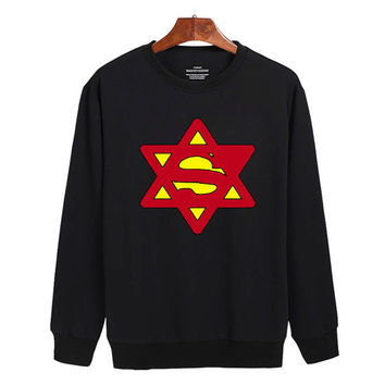Superman logo Sweater sweatshirt unisex adults size S-2XL