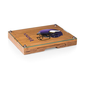 Minnesota Vikings - Concerto Glass Top Cheese Board & Tools Set