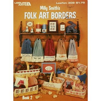 Folk Art Borders - Counted Cross Stitch Leaflet - Leisure Arts