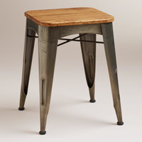 Brayden Metal and Wood Stool - World Market