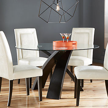 Del Mar Ebony 5 Pc Round Dining Set - Dining Room Sets Black