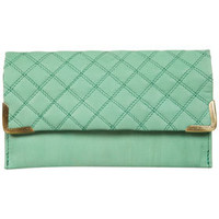 Quilted Leather Corner Purse - Topshop USA