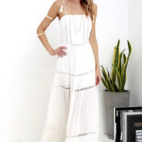 Genuinely Angelic Ivory Embroidered Maxi Dress