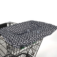 Balboa Baby Shopping Cart Cover - Black Lattice