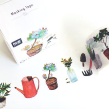 Gardening by maste LIFE series washi masking tape mt