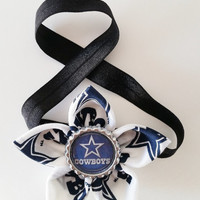 Dallas Cowboys Headband, Toddler and Newborn Football Headband, Cowboys Hair Accessory, Cowboys Baby, Cowboys Hairbow