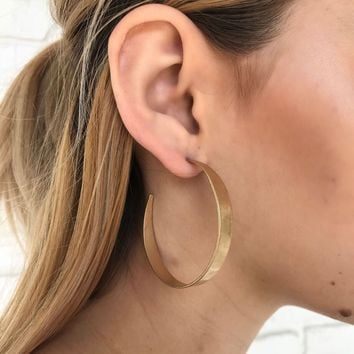 High Rank Hoop Earrings in Gold
