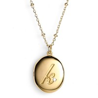 kate spade new york initial locket pendant necklace | Nordstrom
