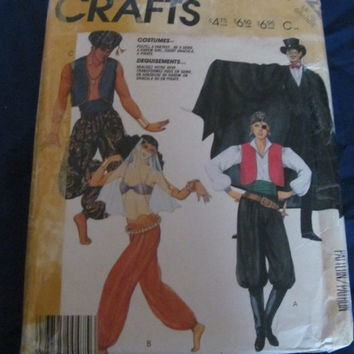 SALE Vintage McCalls Crafts Costume Sewing Pattern 2622! Genie, Gypsy, Vampire with Cape, Pirate etc.