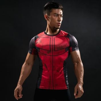 Deadpool Dead pool Taco 2018 Summer Compression Brand Men T Shirt 3D Marvel  T-Shirt Men G ym Bodybuilding Crossfit Fitness Clothing Tops & Tees AT_70_6