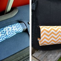 They're back! Set of 2 Monogrammed Luggage Handle Wraps - New Colors!